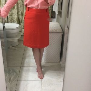 JCrew Poppy Wool Felt A-Line Skirt 0P